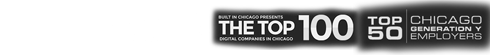 Norton by Symantec / BBB Accredited Business / Built in Chicago Presents the Top 100 Digital Companies in Chicago / Top 50 Chicago Generation Y Employers